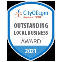 CityOf.com Outstanding Local Business Award - 2021
